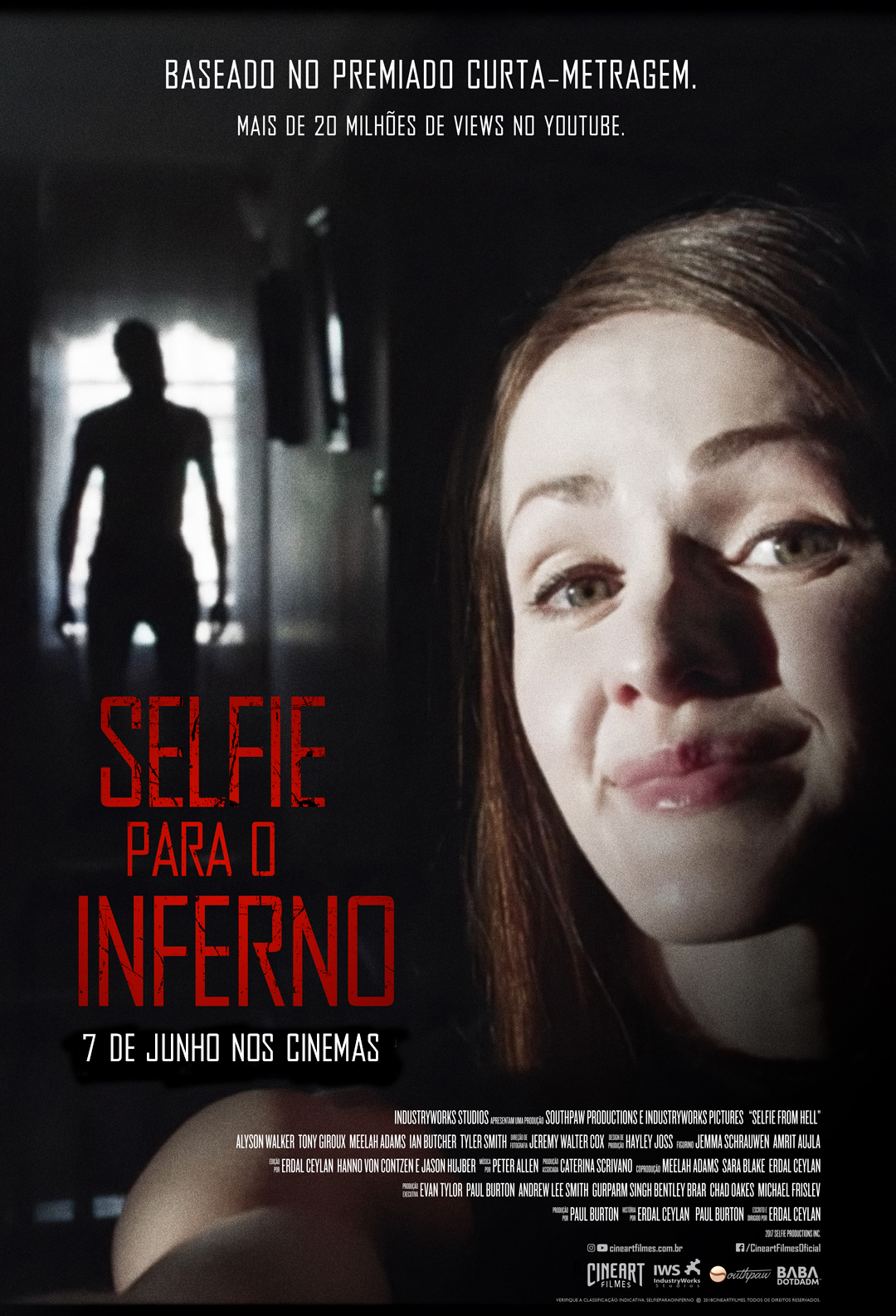 Selfie from hell poster Selfie para o Inferno