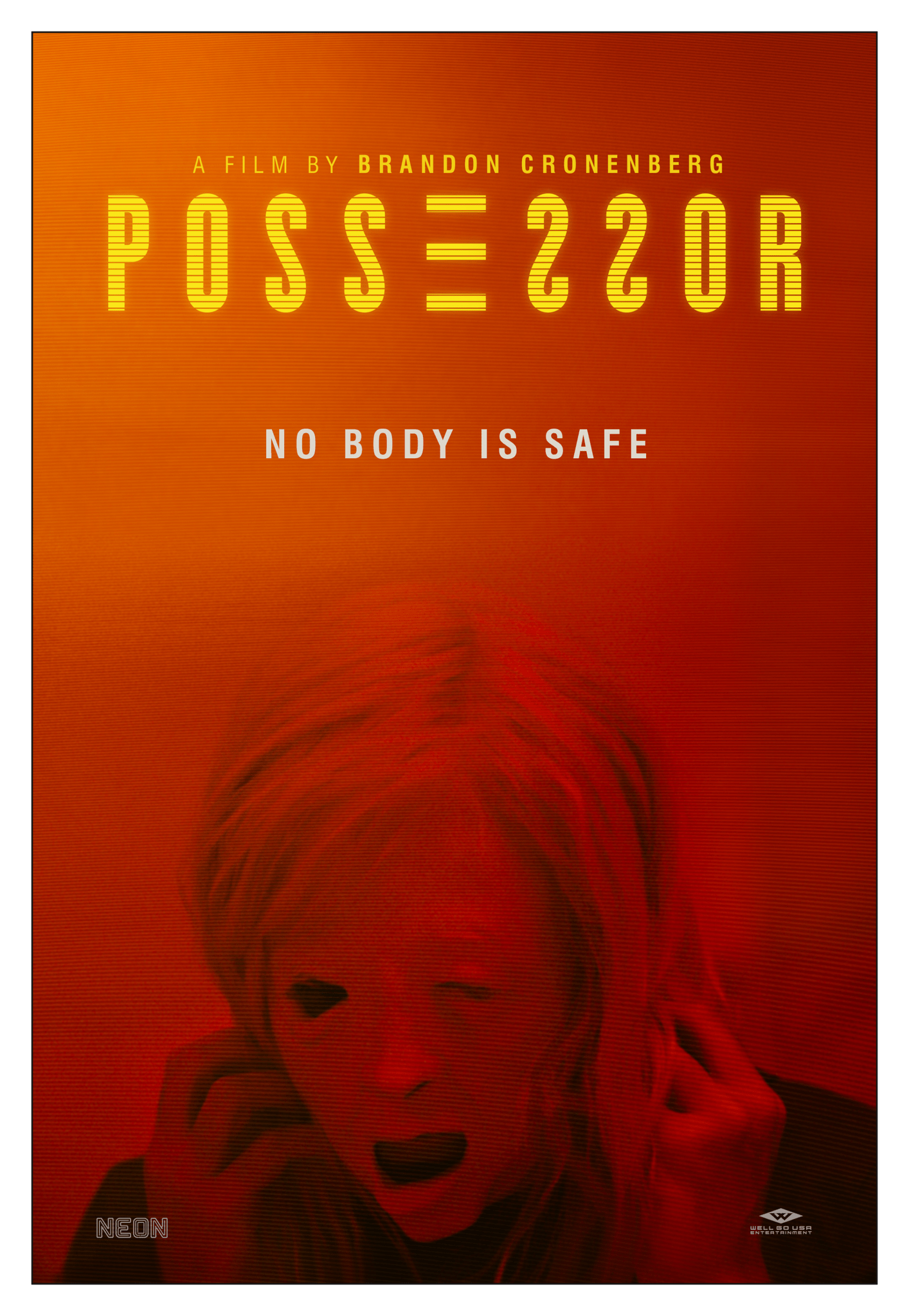 "Pôster do filme de terror ""Possessor"""