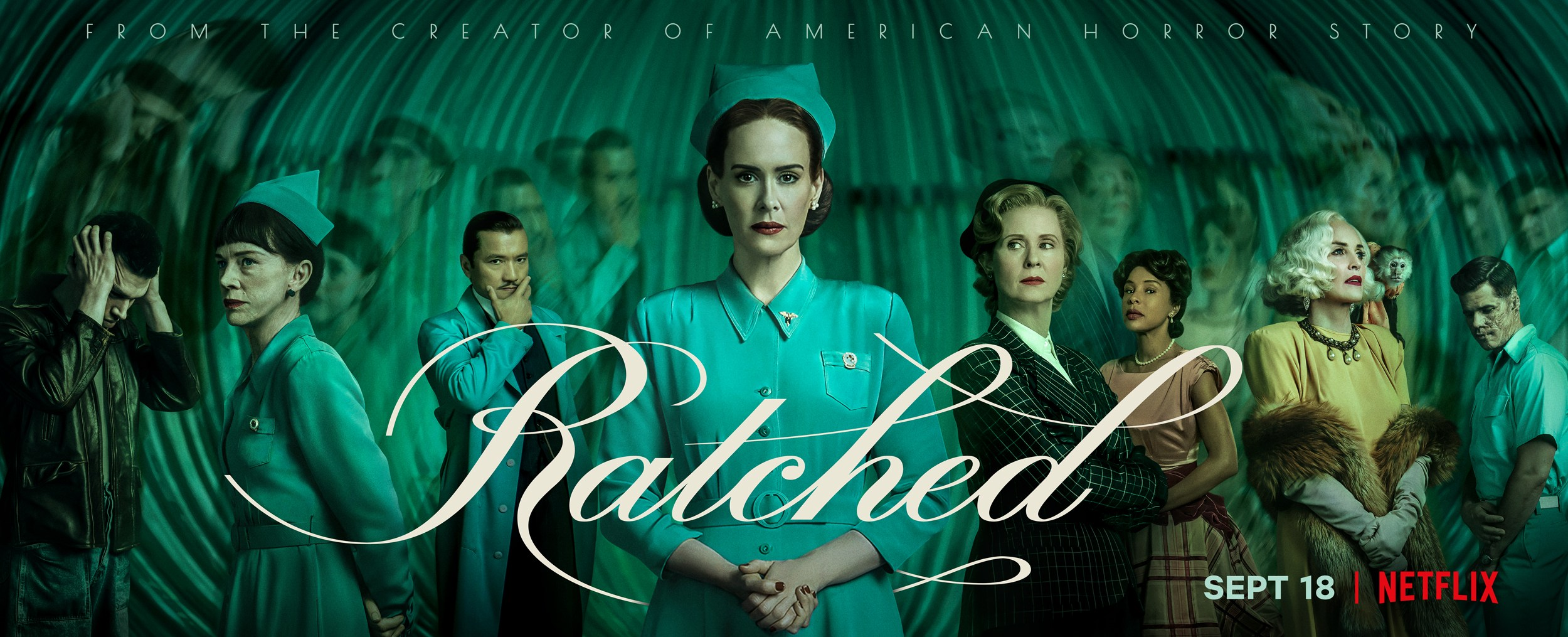 "Assista ao trailer final de ""Ratched"" da Netflix com Sarah Paulson"