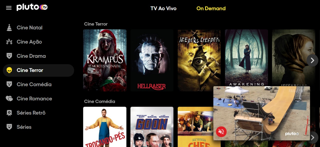 plutotv assistir filme e séries de graça